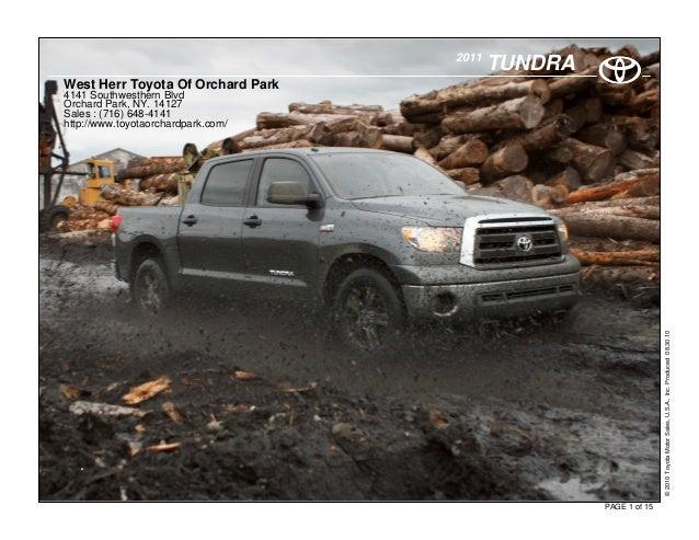 2011 Toyota Tundra -West Herr Toyota Of Orchard Park NY