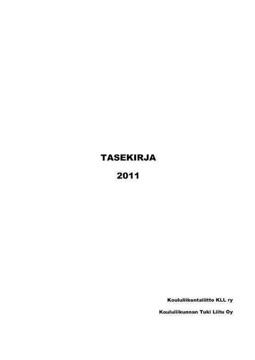 2011 TILINPÄÄTÖSAINEISTOT