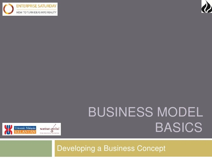 BUSINESS MODEL                BASICSDeveloping a Business Concept