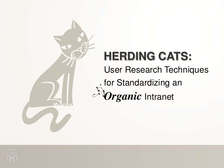 Herding Cats: User Research Techniques for Standardizing an Organic Intranet