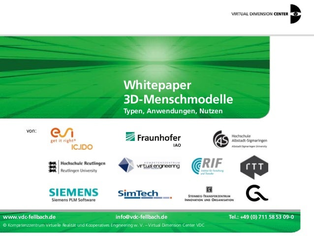 3D- & Virtual-Reality-Menschmodelle: VDC-Whitepaper