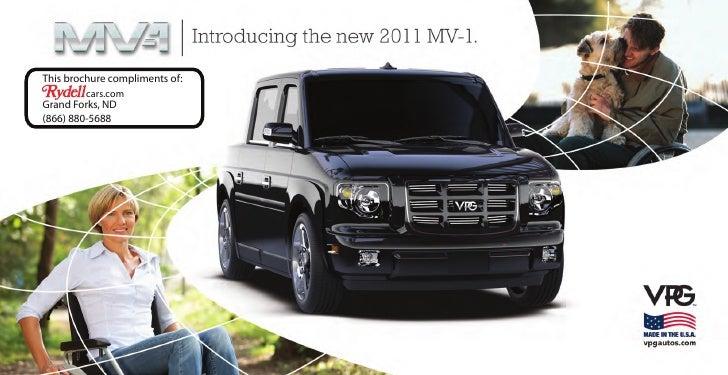 2011 VPG MV-1 Brochure