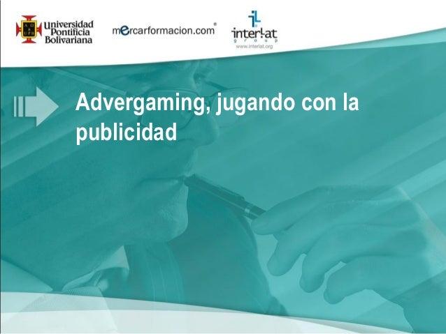 2011 webinar advergaming