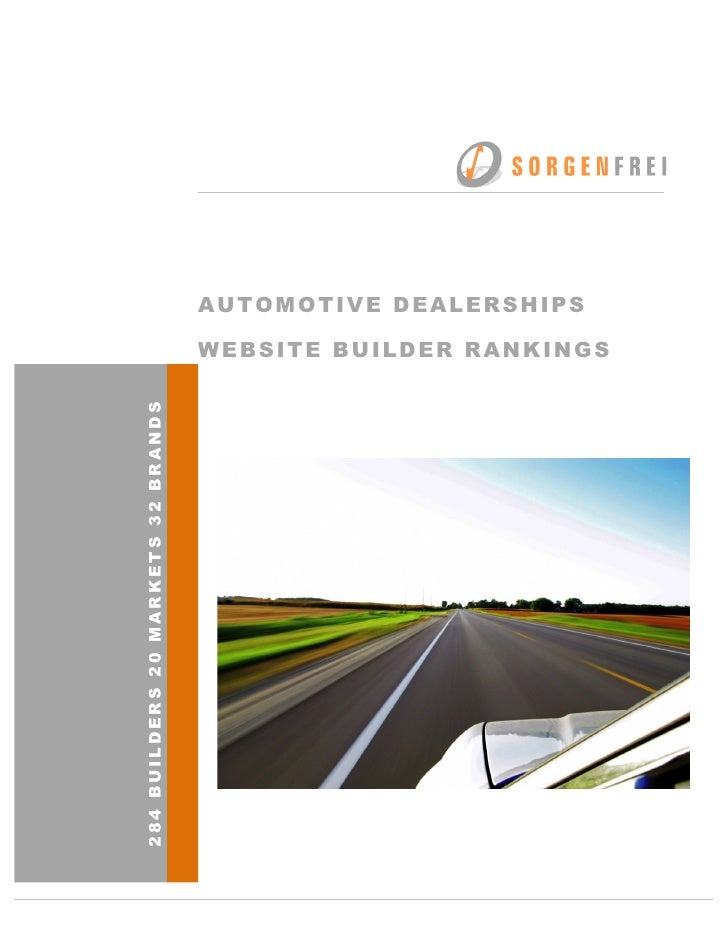 AUTOMOTIVE DEALERSHIPS                                           WEBSITE BUILD...