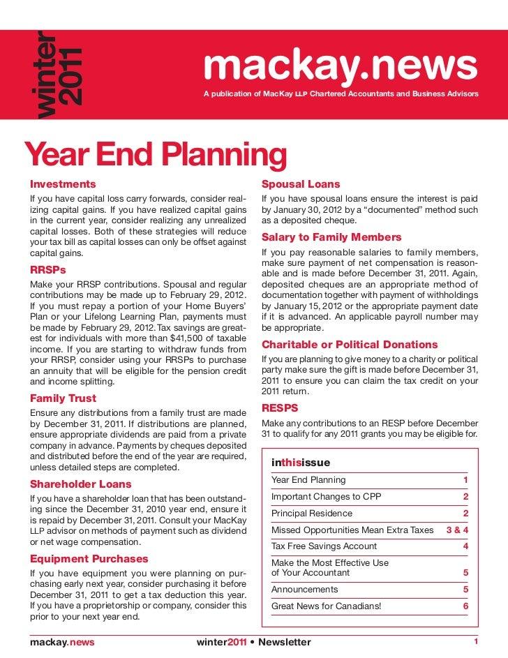 2011 Winter Newsletter