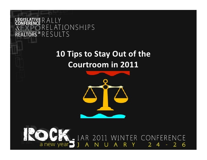 10 Tips to Stay Out of the Courtroom in 2011