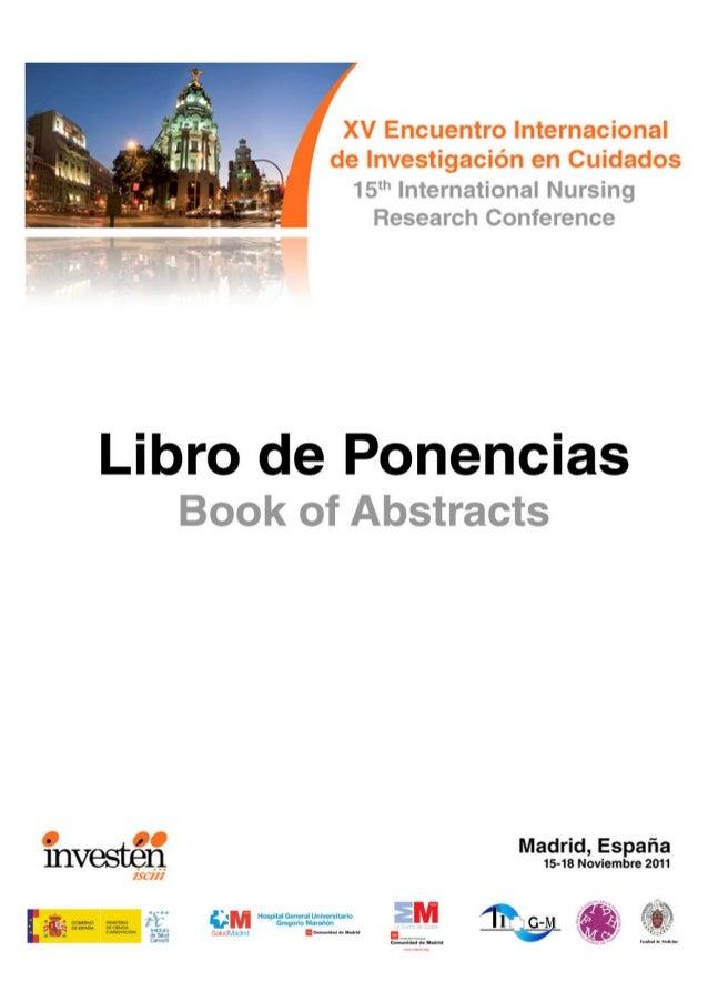 Libro de ponencias XV Encuentro (Madrid 2011)
