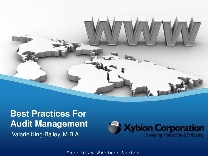 Xybion -  best practices for audit management - final
