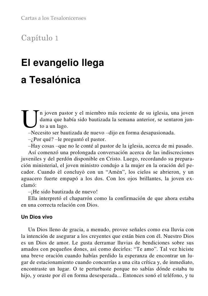 Cartas a los TesalonicensesCapítulo 1El evangelio llegaa TesalónicaU       n joven pastor y el miembro más reciente de su ...