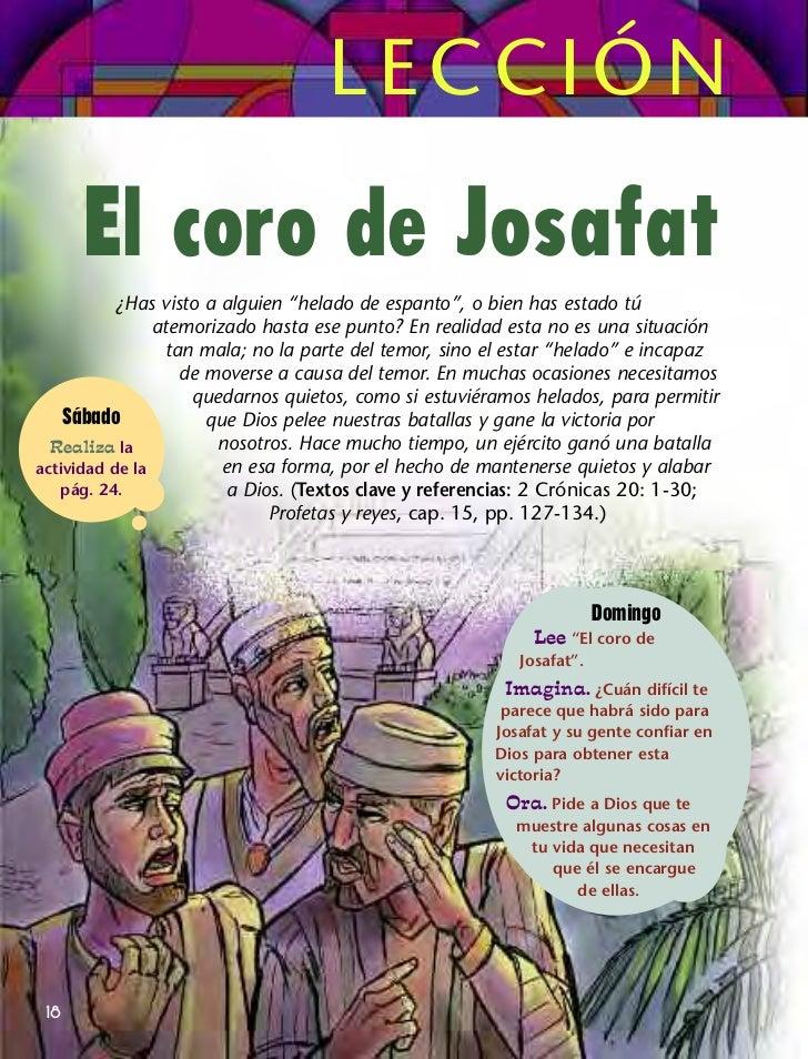 """LECCIÓN      El coro de Josafat           ¿Has visto a alguien """"helado de espanto"""", o bien has estado tú                at..."""