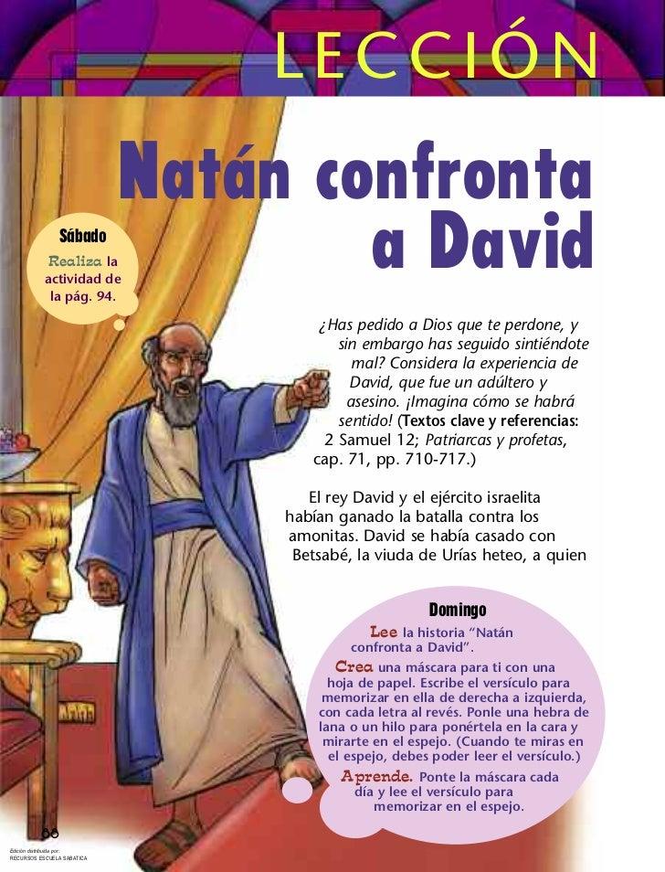 LECCIÓN                            Natán confronta               Sábado            Realiza la           actividad de      ...