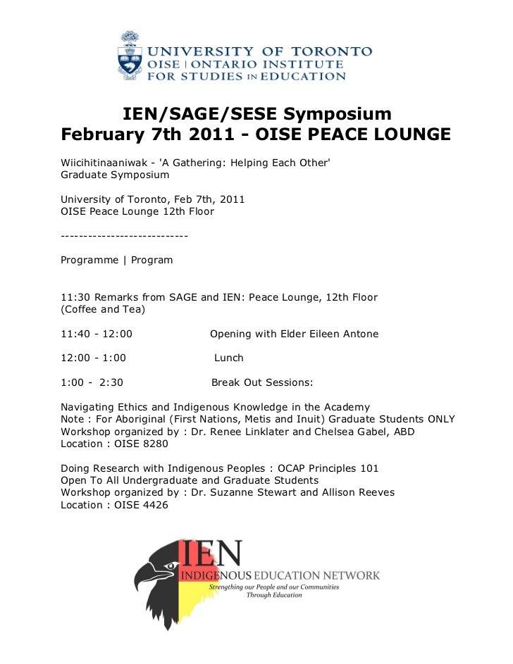 2012 01-26 ien-sage-sese symposium