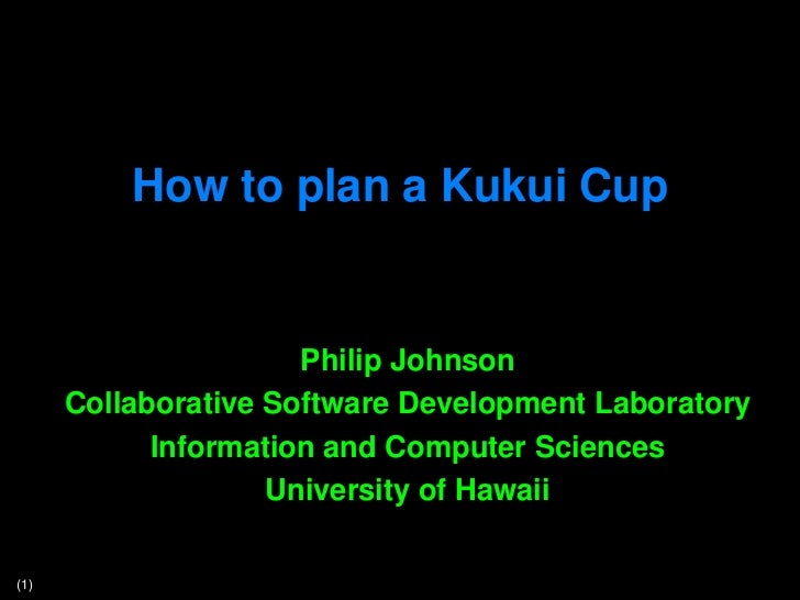 How to plan a Kukui Cup