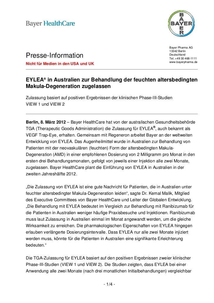Bayer Pharma AG                                                                          13342 BerlinPresse-Information   ...