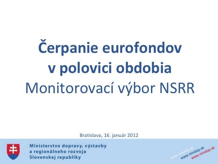 Stav čerpania eurofondov na Slovensku