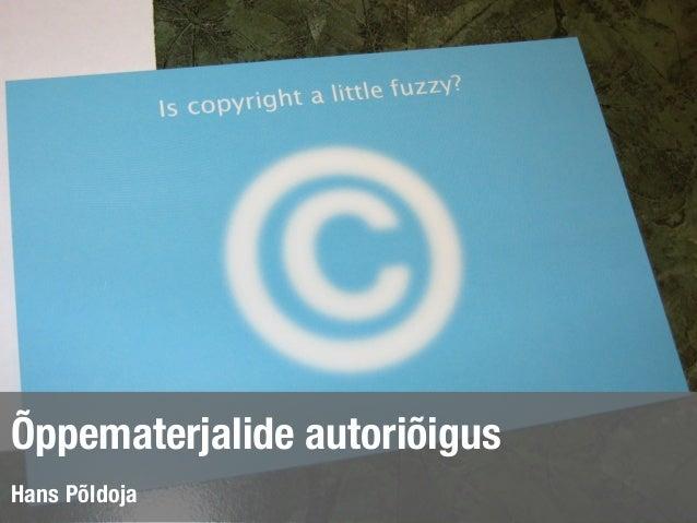 Õppematerjalide autoriõigus