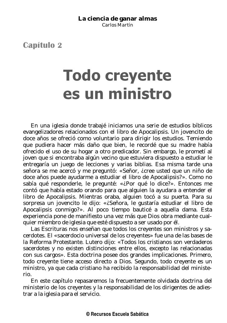 La ciencia de ganar almas                               Carlos MartínCapítulo 2                Todo creyente              ...