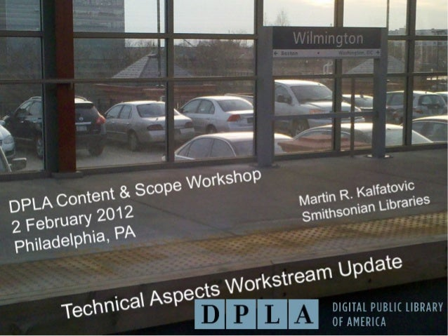 Technical Aspects Workstream Update
