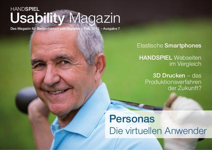 HANDSPIELUsability MagazinDas Magazin für Bedienbarkeit und Digitales – Feb. 2012 – Ausgabe 7                             ...