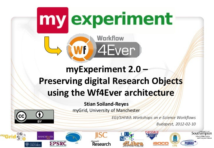 myExperiment 2.0 –Preserving digital Research Objects  using the Wf4Ever architecture             Stian Soiland-Reyes     ...