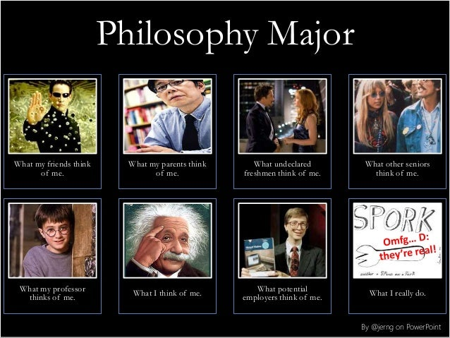 Philosophy Major What my friends think of me. What my parents think of me. What undeclared freshmen think of me. What othe...