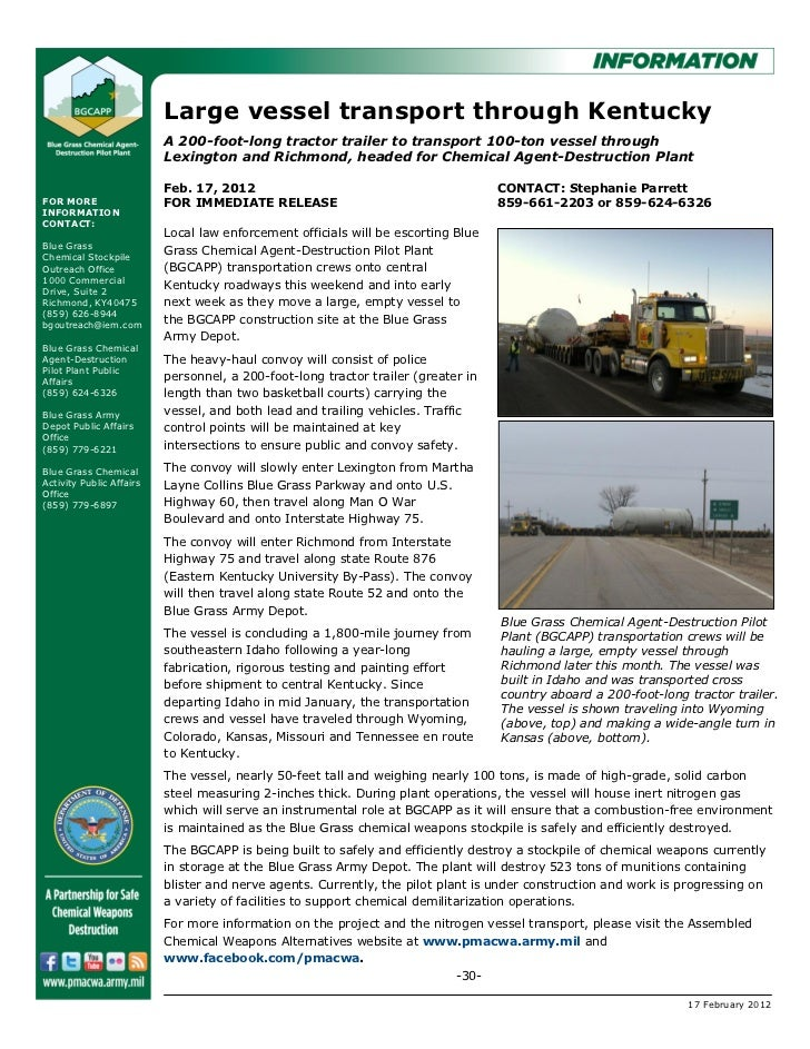 Large vessel transport through Kentucky                          A 200-foot-long tractor trailer to transport 100-ton vess...