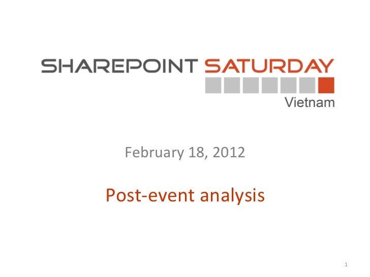 February  18, 2012 Post-event analysis