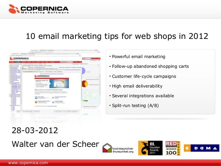 10 email marketing tips for web shops in 2012