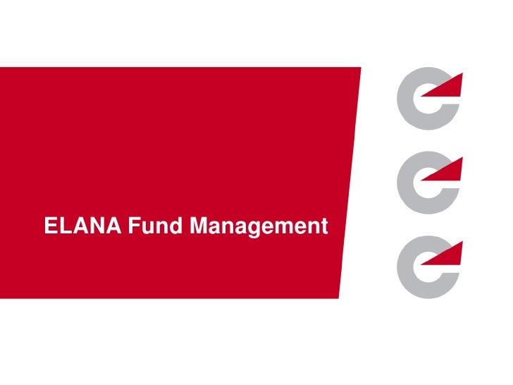 ELANA Fund Management corporate presentation - English