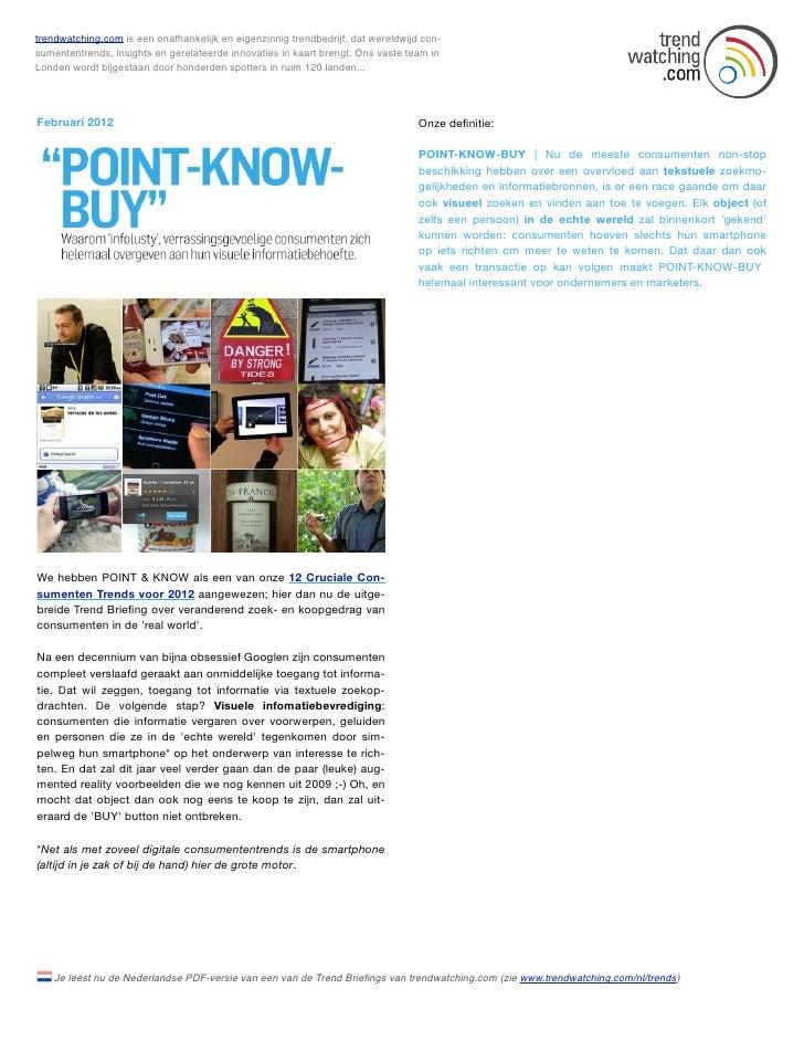Februari 2012: POINT-KNOW-BUY (NL)