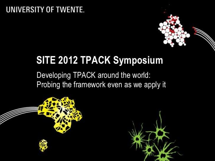 2012-03-05 SITE TPACK Symposium