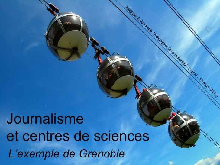 Journalisme et centres de sciences