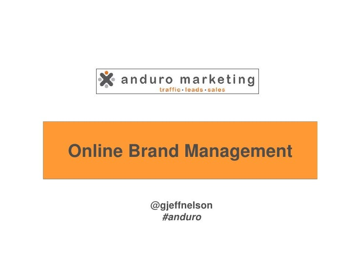 2012 03-22 - high river chamber of commerce - online brand management