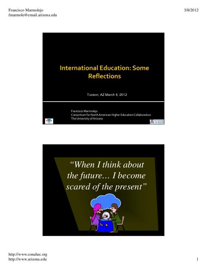 International Higher Education Trends 2012