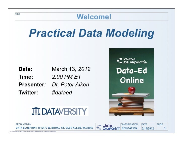 Data-Ed Online: A Practical Approach to Data Modeling