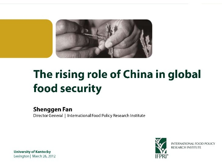 Rising role of china in global food security