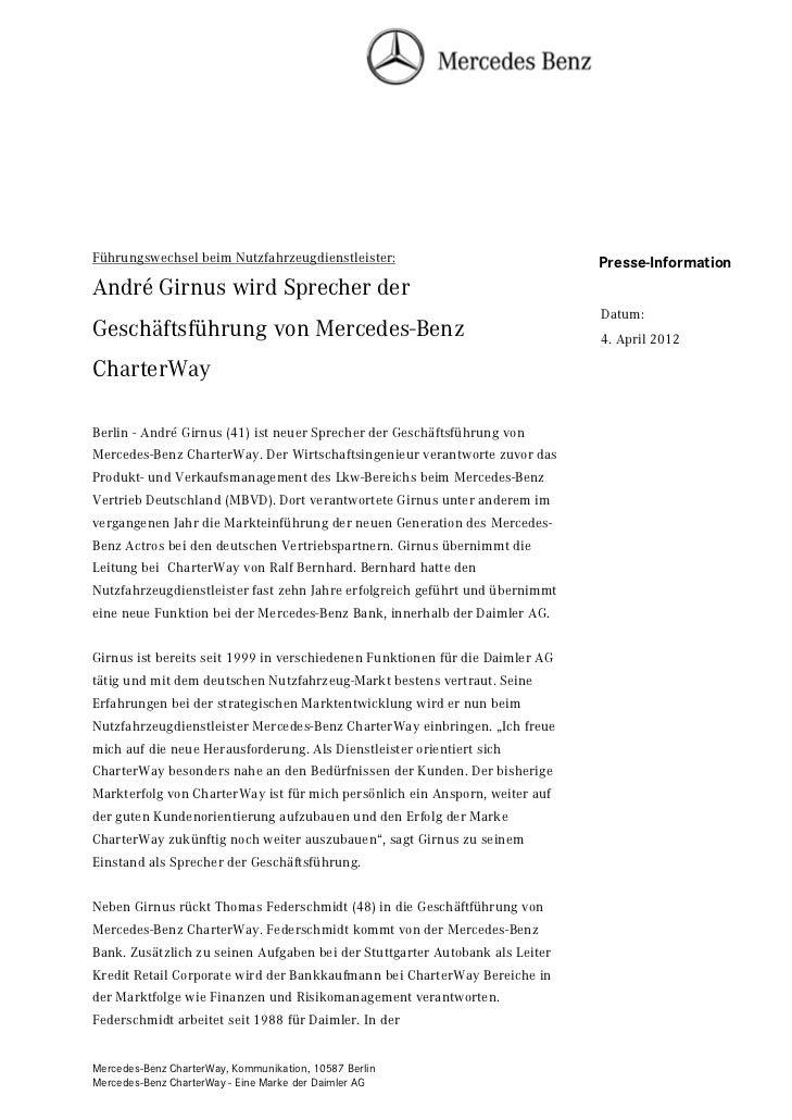 Führungswechsel beim Nutzfahrzeugdienstleister:                               Presse-InformationAndré Girnus wird Sprecher...