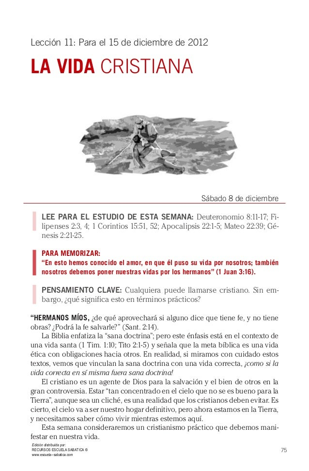 Escuela sabatica leccion 11