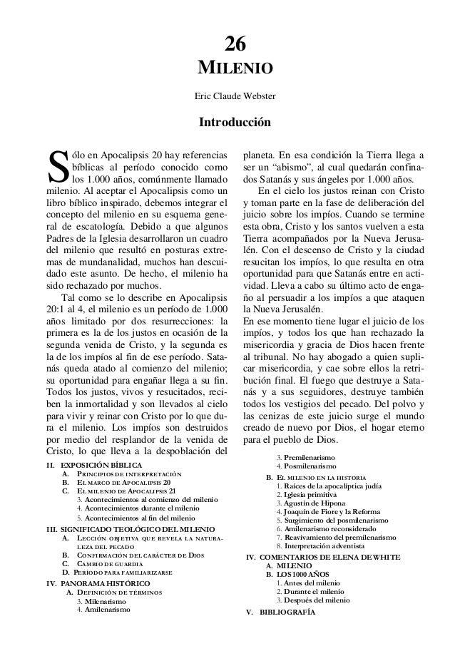 Tratado de Teologia Adventista - El Milenio