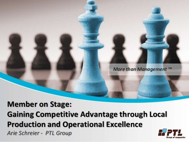 local competitor advantage When envisioning and establishing my business, i focused on both short- and  long-term goals my short-term goal was to outgrow a local competitor's annual.