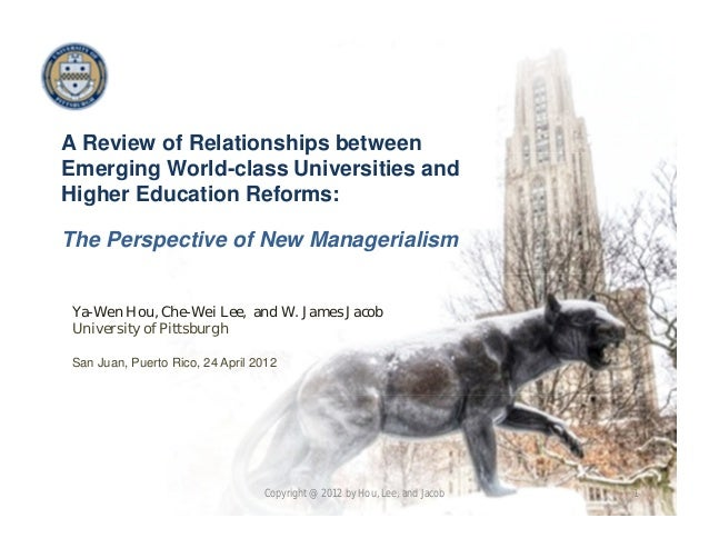 A Review of Relationships between Emerging World-class Universities and Higher Education Reforms: The Perspective of New M...