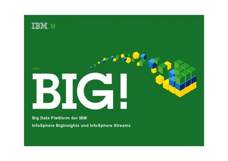 Big Data Plattform der IBMInfoSphere BigInsights und InfoSphere Streams