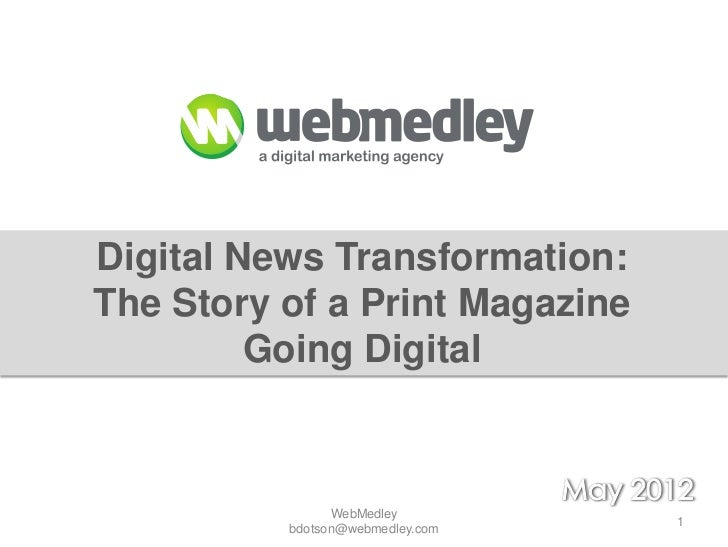 Transformation from Print to Digital