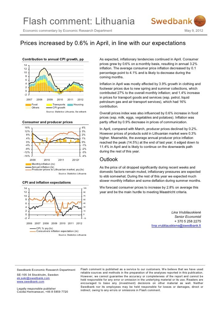 Flash comment: Lithuania    Economic commentary by Economic Research Department                                           ...