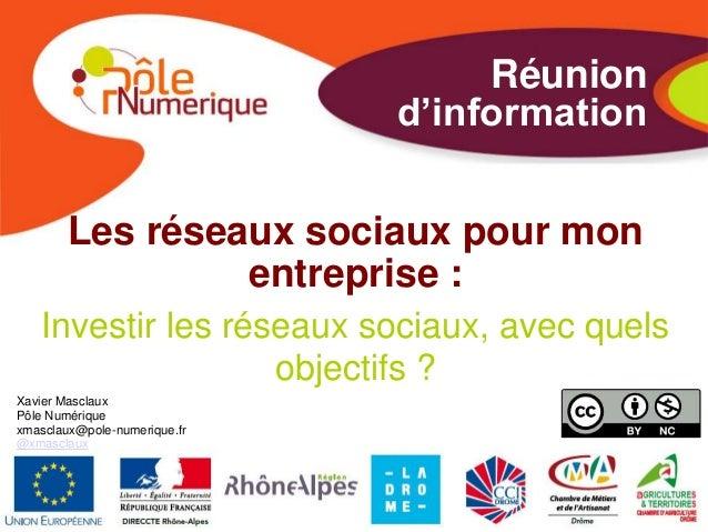 Les matinales de l'Ecoparc (15/05/2013) : les réseaux sociaux pour un usage prosfessionnel