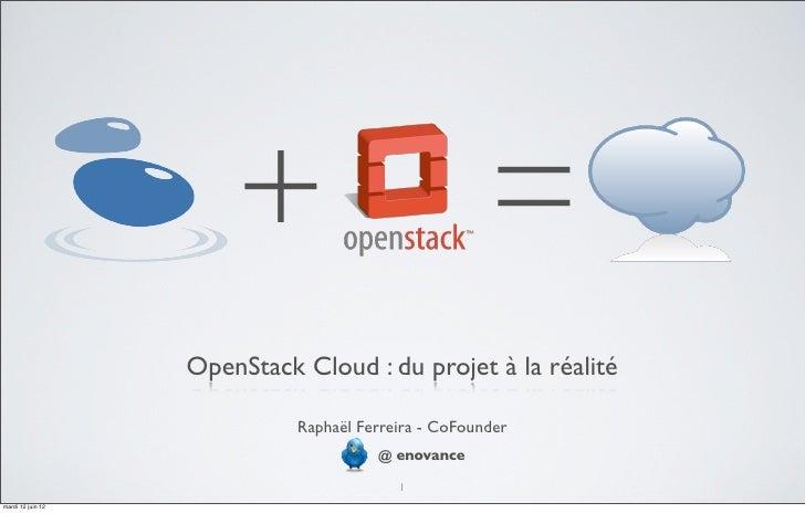 +                              =                   OpenStack Cloud : du projet à la réalité                             Ra...