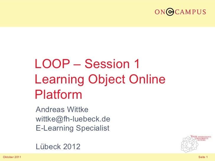 LOOP - Learning Object Online Platform