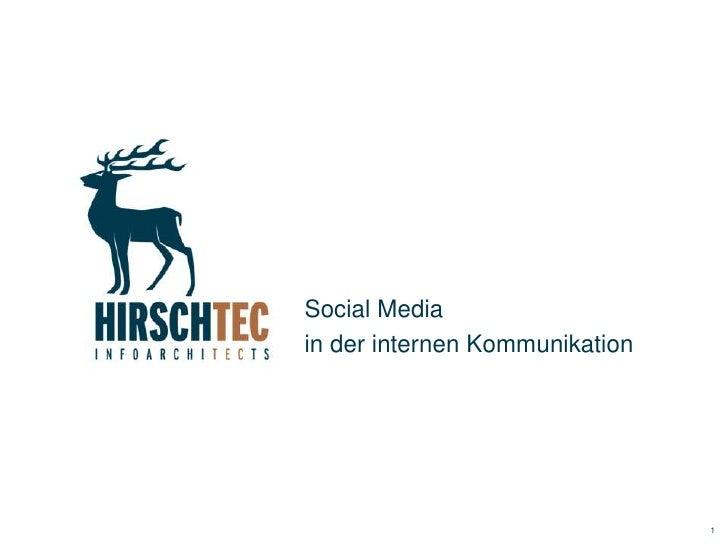 Social Media in der internen Unternehmenskommunikation