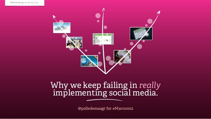 Polle de Maagt @polledemaagt                               Why we keep failing in really                               imp...