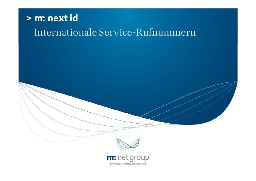 >      next id    Internationale Service-Rufnummern